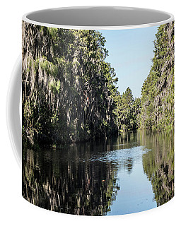 Coffee Mug featuring the photograph River Of Stillness by Sally Sperry