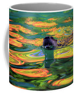 River Otter And Autumn Color Coffee Mug