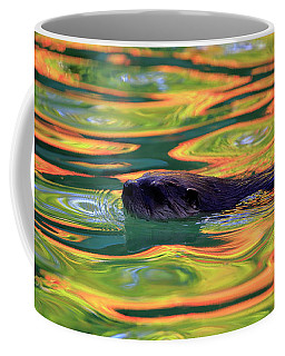 River Otter In Autumn Reflections Coffee Mug