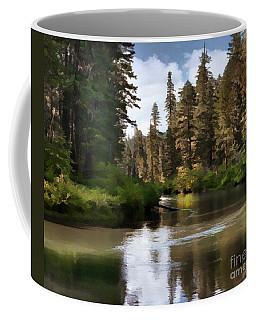 Coffee Mug featuring the painting Millers Creek Painterly by Peter Piatt