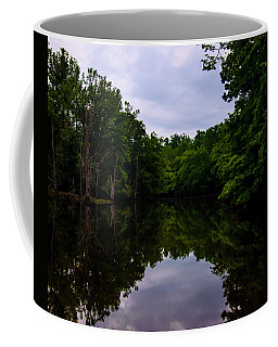 Coffee Mug featuring the digital art River Reflections by Chris Flees