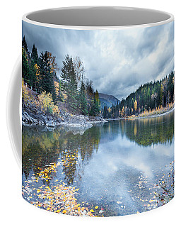 Coffee Mug featuring the photograph River Reflections by Fran Riley