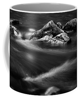 River Rock In Black And White Coffee Mug