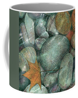 Coffee Mug featuring the painting River Rocks by John Dyess