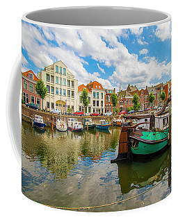 River Scene In Rotterdam Coffee Mug by Venetia Featherstone-Witty