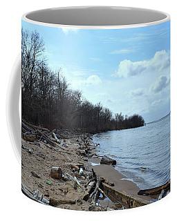 Delaware River Shoreline Coffee Mug