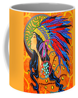 Coffee Mug featuring the painting River Song  by Debbie Chamberlin