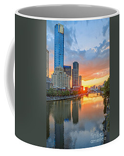 Coffee Mug featuring the photograph River Sunset by Ray Warren