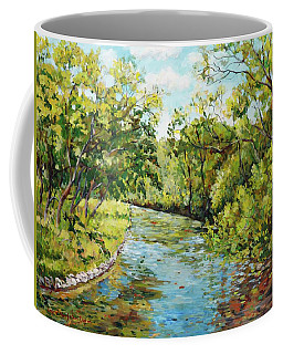 River Through The Forest Coffee Mug