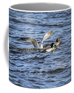 Coffee Mug featuring the photograph River Traffic by Ray Congrove