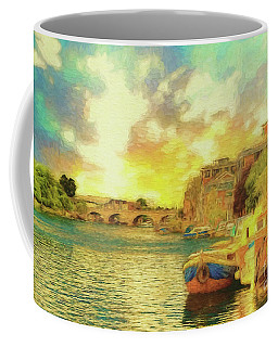 Coffee Mug featuring the photograph River View by Leigh Kemp