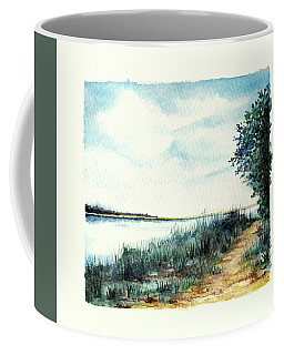 Coffee Mug featuring the painting River Walk by Heidi Kriel