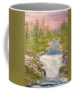 River With Falls Coffee Mug