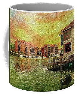 Coffee Mug featuring the photograph River Work by Leigh Kemp