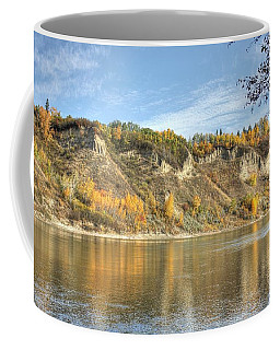 Riverbank In Autumn Coffee Mug