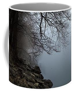 Riverbank In The Fog Coffee Mug