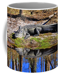Coffee Mug featuring the photograph Riverside Reflection by Al Powell Photography USA
