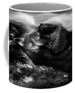 Rivers Edge In Black And White Coffee Mug