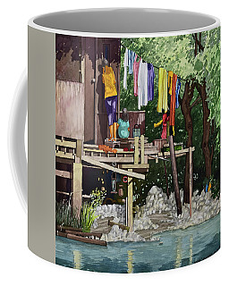 Riverside House And It's Laundry Coffee Mug