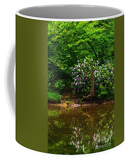 Coffee Mug featuring the photograph Riverside Rhododendron by Thomas R Fletcher