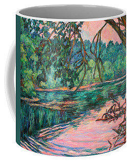 Coffee Mug featuring the painting Riverview At Dusk by Kendall Kessler