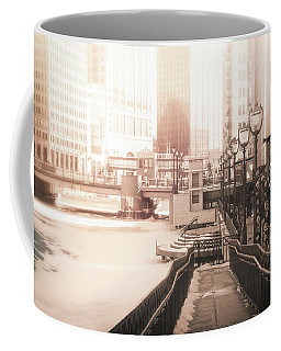 Riverwalk Stroll In Winter Coffee Mug