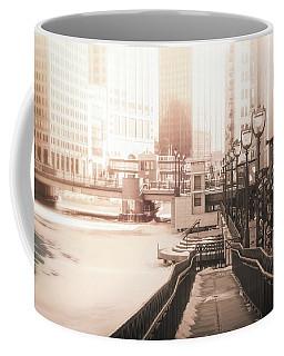Riverwalk Stroll In Winter Coffee Mug