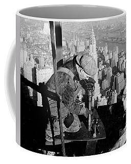 Riveters On The Empire State Building Coffee Mug