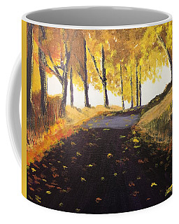 Road In Autumn Coffee Mug