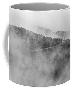 Road In Fog - Blue Ridge Parkway Coffee Mug