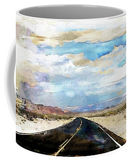 Coffee Mug featuring the digital art Road In The Desert by Robert Smith