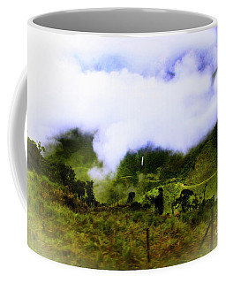 Coffee Mug featuring the photograph Road Through The Andes by Al Bourassa