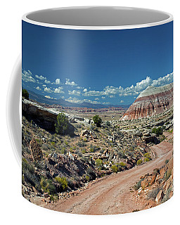 Road To Cathedral Valley Coffee Mug by Cindy Murphy - NightVisions