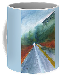 Coffee Mug featuring the painting Road To Nowhere by Frank Bright