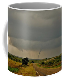 Coffee Mug featuring the photograph Road To The Twister by Ed Sweeney