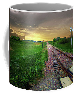 Road Track Crossing Coffee Mug