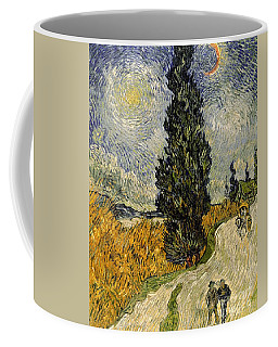 Road With Cypresses Coffee Mug