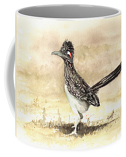 Coffee Mug featuring the painting Roadrunner by Sam Sidders