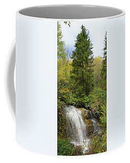 Coffee Mug featuring the photograph Roadside Waterfall In North Carolina by Mike McGlothlen