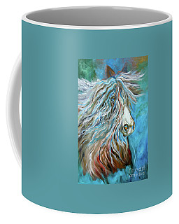 Coffee Mug featuring the painting Roan Stallion 11 by Jenny Lee