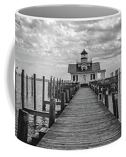 Coffee Mug featuring the photograph Roanoke Marshes Light by David Sutton