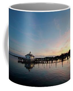 Roanoke Marshes Lighthouse At Dusk Coffee Mug