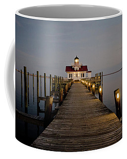 Coffee Mug featuring the photograph Roanoke Marshes Lighthouse by David Sutton