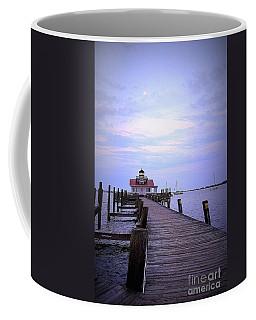 Full Moon Over Roanoke Marshes Lighthouse Coffee Mug by Shelia Kempf