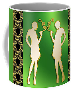 Coffee Mug featuring the digital art Roaring 20s Girls - Chuck Staley by Chuck Staley