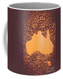 Roasted Australian Coffee Beans Background Coffee Mug
