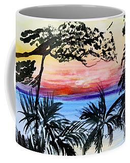 Roatan Sunset Coffee Mug by Donna Walsh