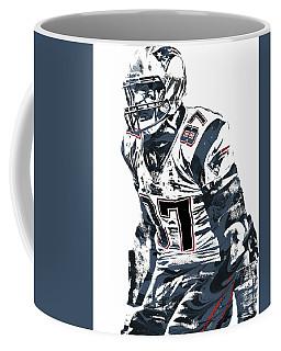 Rob Gronkowski New England Patriots Pixel Art 4 Coffee Mug by Joe Hamilton