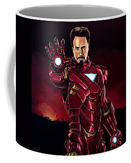Robert Downey Jr. As Iron Man  Coffee Mug