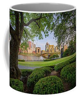 Coffee Mug featuring the photograph Roberto Clemente Bridge by Emmanuel Panagiotakis